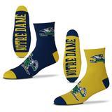 Men's For Bare Feet Notre Dame Fighting Irish 2-Pack Team Quarter-Length Socks