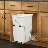 Rev-A-Shelf Stainless Steel 9 Gallon Pull Out Trash CanStainless Steel in Gray, Size 19.25 H x 10.63 W x 22.0 D in   Wayfair RV-12KD-11C S