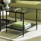 CTH Occasional Bunching Coffee Table w/ Storage Wood/Glass in Black/Brown, Size 20.0 H x 18.0 W x 24.0 D in | Wayfair 960-003