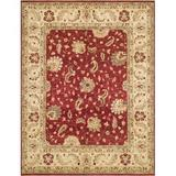 Loloi Rugs Durden Hand-Knotted Wool Red/Ivory Area Rug Wool in White, Size 60.0 H x 36.0 W x 0.25 D in | Wayfair MAJEMM-04REIV3050
