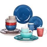 Dakota Fields 16 Piece Dinnerware Set, Service for 4 Ceramic/Earthenware/Stoneware in Green | Wayfair 1032505BF60E40F288A81887DA537912