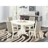 Alcott Hill® Seguin 7 - Piece Butterfly Leaf Solid Rubberwood Dining Set Wood in Brown, Size 30.0 H in | Wayfair 1EE46C07AE79436F96F7EBB17ADA4883