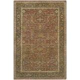 Surya Pazyryk Hand-Knotted Beige Area Rug Wool in Orange/White, Size 156.0 H x 108.0 W x 0.39 D in | Wayfair PZY1002-913