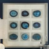 Uttermost Stone Cerulean Shadow Box Picture Frame Wood/Glass in Blue/Brown, Size 32.0 H x 32.0 W x 2.0 D in | Wayfair 04131