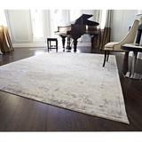 Loloi Rugs Leffel Hand-Knotted Area Rug Viscose in Gray, Size 36.0 H x 24.0 W x 0.25 D in | Wayfair MIGEMK-01IR002030