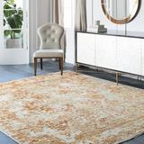 Surya Desiree Hand-Knotted Orange Area Rug Viscose/Cotton/Wool in Brown/Orange, Size 156.0 H x 108.0 W x 0.37 D in | Wayfair DSR1000-913