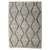 Modern Rugs Hearth Brown Gray Felt Shag Rug, Wool in Gray/Silver, Size Rectangle 9' x 12' | Wayfair nvk_hearth-browngray_9' x 12'