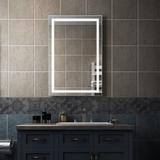 Brayden Studio® Zarai Lighted Bathroom/Vanity Mirror in White, Size 24.0 H x 36.0 W x 1.2 D in   Wayfair 1FEC6B88443A424F8D8E93B212D6529A