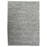 Modern Rugs Rubble Ivory Felt Shag Rug Wool in Gray, Size 72.0 H x 72.0 W x 0.25 D in | Wayfair nvk_rubble-ivorygray_6' Round