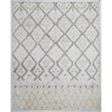 PacificRugs Moroccan Hand-Knotted Gray/Beige Area Rug Wool in Brown, Size 120.0 H x 96.0 W x 0.5 D in | Wayfair MO01-810