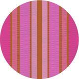 Latitude Run® Cara-Jane Striped Purple Area Rug Polyester/Wool in Indigo, Size 84.0 H x 84.0 W x 0.35 D in   Wayfair