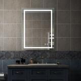 Brayden Studio® Zarai Lighted Bathroom/Vanity Mirror in White, Size 28.0 H x 36.0 W x 1.2 D in   Wayfair 4502268405904BBF809A761257E2D524