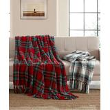 MHF Home Throws Red - Red & Green Plaid Chenille Throw