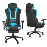 Mofine LLC Massage Gaming Chair Faux Leather in Blue, Size 50.0 H x 28.0 W x 28.0 D in | Wayfair W46119157-MO001