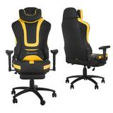 Mofine LLC Massage Gaming Chair Faux Leather in Yellow, Size 50.0 H x 28.0 W x 28.0 D in   Wayfair W46119161-MO001