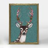 The Holiday Aisle® Gingerbread Deer by Eli Halpin - Picture Frame Painting Print on Canvas Canvas & Fabric in Brown/Green | Wayfair