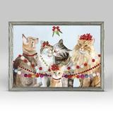 The Holiday Aisle® Cat Bunch by Cathy Walters - Picture Frame Painting Print on Canvas Canvas & Fabric in Brown, Size 5.0 H x 7.0 W x 1.25 D in