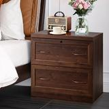Red Barrel Studio® Adonracin 2-Drawer Lateral Filing Cabinet Wood in Brown/Red, Size 28.5 H x 29.0 W x 16.0 D in   Wayfair