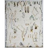 Bungalow Rose Kirkley Hand-Knotted Wool Cream/Gold Area Rug Wool in Yellow, Size 168.0 H x 120.0 W x 0.5 D in | Wayfair MO04-1014