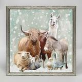The Holiday Aisle® Winter Farm by Cathy Walters - Picture Frame Painting Print on Canvas Canvas & Fabric in Brown/Green/White | Wayfair