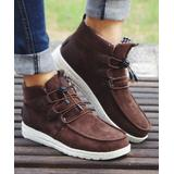 ROSY Women's Casual boots Coffee - Coffee Laced-Front Ankle Boot - Women