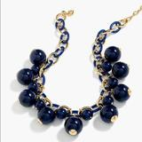 J. Crew Jewelry   J. Crew Beaded Ball Chain Link Necklace Blue   Color: Blue/Gold   Size: Os