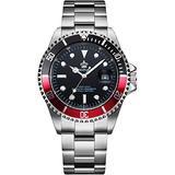 MASTOPMen's Luxury Watch Rotatable Bezel Shockproof Sapphire Classic Date Quartz Watches Waterproof Two Tone Dress Watch