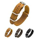 CIVO Watch Band Genuine Crazy Horse Leather Watch Bands Zulu Military Swiss G10 Style Watch Strap 20mm 22mm (Brown, 18mm)