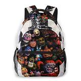 Five Nights at Freddy's Backpack for Kids, FNAF School Backpack Children School Bag Boys Girls High Capacity Canvas Travel Gift Waterproof School Bag Lunch Bag