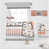 Bacati Construction Yellow/Gray/Orange/Blue Boys 10-Piece Nursery in a Bag Baby Boy Nursery Crib Bedding Set with Long Crib Rail Guard for US Standard Crib 100 Percent Cotton