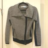 Anthropologie Sweaters | Anthropologie Black And White Motorcycle Jacket | Color: Black/White | Size: S
