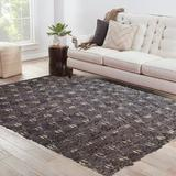 Foundry Select Mattie Hand-Knotted Wool Gray/Cream Area Rug Wool in White, Size 120.0 H x 96.0 W x 0.5 D in | Wayfair MO03-810
