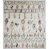Bungalow Rose Kirkley Hand-Knotted Wool Beige/Area Rug Wool in Orange, Size 120.0 H x 96.0 W x 0.5 D in | Wayfair MO06-810
