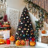 The Holiday Aisle® Spruce Artificial Christmas Tree in Black, Size 72.0 H x 43.3 W in | Wayfair AB14CC98C89C4F7788804970FE4FD0B4
