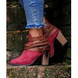 YASIRUN Women's Casual boots Red - Red Ankle Boot - Women