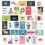 Cavepop 36 Piece Birthday Greeting Card Set, Size 6.0 H x 4.0 W x 0.5 D in | Wayfair HCS-ATHBCD-WT