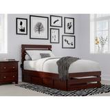 Sand & Stable™ Baby & Kids Dionis Extra Long Twin 2 Drawers Solid Wood Platform Standard Bed Wood in Brown, Size 40.25 W x 82.25 D in   Wayfair