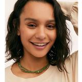 Free People Jewelry | New Free People Serefina Layer Necklace Green Gold | Color: Gold/Green | Size: Os