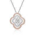 Diamantcollier Blüte bicolor 0,153 ct gesamt