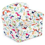 ARLIME Kids Sofa, Children Armrest Upholstered Chair with Cute Pattern, Toddler Children Wood Construction Armchair for Boys Girls, Child Furniture for Ages 3-7 (Dinosaur)