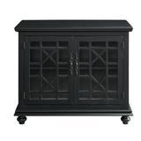 "Three Posts™ Miya 2 Door Accent Cabinet, Wood in Antique Black, Size Standard (24-42"")   Wayfair 2CB6568C6CED4C24A611AAEE599046E5"