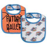 Oklahoma City Thunder Newborn & Infant Two-Pack Fashions Bib Set