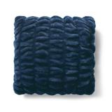 Ruched Faux Fur Pillow - Ivory/Square, 18X18 Square - Grandin Road