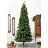 Nearly Natural Green Cashmere Slim Christmas Tree