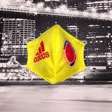 Adidas Accessories   Face Mask   Color: Red/Yellow   Size: One Size Fits Most