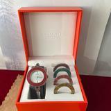 Coach Accessories | Ladies Coach Interchangeable Color Bezel Watch | Color: Silver | Size: Os
