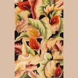 "Floral Delight Rectangle Rug, 3'3"" x 5'3"", Black"