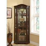"""Darby Home Co Absher 5-Shelf Lighted Corner Curio Cabinet, Wood/Glass in Brown/Clear, Size 83""""H X 33""""W X 22""""D 