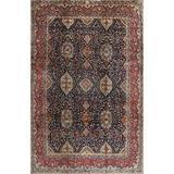 Canora Grey Harriet Oriental Red/Area Rug Polyester/Wool in Blue, Size 120.0 H x 84.0 W x 0.35 D in   Wayfair 93E3B73789E34EAC95D66E5543A5E78E