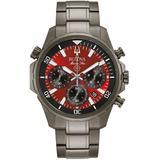Chronograph Marine Star Gray Stainless Steel Bracelet Watch 43mm - Gray - Bulova Watches